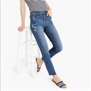 NEW J Crew Womens Vintage Straight Embroidery Jean